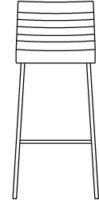 High, bar stool