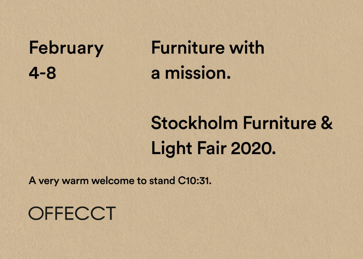 We Are Offecct A Swedish Furniture Design Company That
