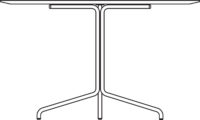 Table Ø1200 mm, height 720 mm, white compact laminate