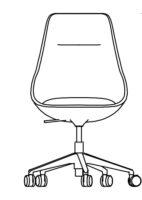 Chair High, 5 castors 532-84