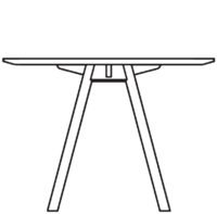 Table Ø1000 mm, height 720 mm