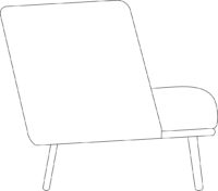 Easy chair, low